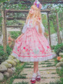 Dress Spring of 2018 White, pink Average size Mid length dress singleton  Sleeveless Sweet One word collar High waist Cartoon animation zipper Princess Dress camisole 18-24 years old Type A Other / other printing 81% (inclusive) - 90% (inclusive) Chiffon nylon Lolita
