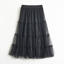 skirt Spring 2021 Average size Black, khaki, grey Middle-skirt commute Natural waist Dot Type A ZPY15Q017 51% (inclusive) - 70% (inclusive) Other / other Korean version