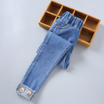 trousers Other / other female spring and autumn trousers Korean version There are models in the real shooting Jeans Leather belt middle-waisted Denim Don't open the crotch Class B 2, 3, 4, 5, 6, 7, 8, 9, 10, 11, 12, 13, 14 years old Chinese Mainland Zhejiang Province Huzhou City