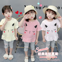 suit Other / other 80cm,90cm,100cm,110cm female summer Korean version Short sleeve + pants 2 pieces Thin money There are models in the real shooting Socket nothing Cartoon animation cotton children Giving presents at school Class A Cotton 100% Chinese Mainland