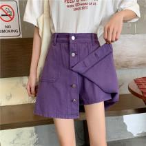 Jeans Summer 2020 White, purple, black S [90-100kg], m [100-110kg], l [110-120kg], XL [120-135kg], 2XL [135-150kg], 3XL [150-165kg], 4XL [165-175kg], 5XL [175-200kg] Pant High waist routine 18-24 years old light colour