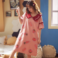 Nightdress Other / other S [suggested 70-80 kg], m [suggested 80-100 kg], l [suggested 100-120 kg], XL [suggested 120-140 kg], XXL [suggested 140-160 kg], XXXL [suggested 160-180 kg], 4XL [suggested 180-200 kg], 5XL [suggested 200-220 kg], 6xl [suggested 220-240 kg] Sweet Short sleeve Leisure home