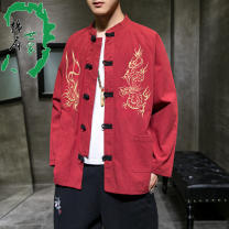 Windbreaker Others Youth fashion No buckle Medium length standard Other leisure autumn youth other Chinese style other Assembly
