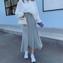 skirt Winter 2016 S,M,L,XL,2XL White top + grey skirt, white top + black skirt, single black skirt, single grey skirt, single white top street 18-24 years old 30% and below