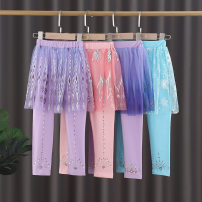 trousers Other / other female About 90 is recommended for size 100, about 100 for Size 110, about 110 for Size 120, about 120 for Size 130, and about 130 for size 140 spring and autumn trousers princess There are models in the real shooting Leggings Leather belt middle-waisted cotton KZ0098-J Class B