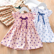 Dress Pink, khaki, white female Other / other 90cm,100cm,110cm,120cm,130cm Cotton 95% other 5% summer leisure time Skirt / vest Dot cotton TT-213 Class B 12 months, 6 months, 9 months, 18 months, 2 years old, 3 years old, 4 years old, 5 years old, 6 years old, 7 years old Chinese Mainland Foshan City