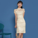cheongsam Spring 2021 S,M,L,XL Off white Short sleeve ethnic style 18-25 years old A505