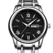 Wristwatch Other / other Shop warranty quartz movement  male steel domestic 3ATM alloy Mineral reinforced glass mirror 8mm 40mm A007346127217 circular Pointer type brand new Single fold buckle Reprint 2015 24 hours indication calendar luminous week display