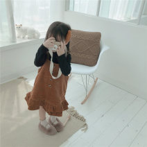Dress Brown female Other / other 80cm,90cm,100cm,110cm,120cm,130cm Cotton 80% other 20% winter princess Strapless skirt Solid color cotton Lotus leaf edge A581 12 months, 18 months, 2 years old, 3 years old, 4 years old, 5 years old, 6 years old Chinese Mainland Zhejiang Province
