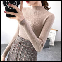 Wool knitwear Spring 2020 Long sleeve cotton More than 95% singleton  Condom Regular payment thick commute Self cultivation High collar routine Solid color Condom 18-24 years old Boudoir house thread White, black, gray, yellow, apricot, khaki, pink, caramel M,L,XL