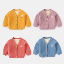 Plain coat Yiqi baby neutral 66cm,73cm,80cm,90cm,100cm,110cm,120cm Yellow, purple, sand red, khaki, light blue, navy winter Korean version Single breasted There are models in the real shooting Plush nothing Cartoon animation Cotton blended fabric V-neck B94G14WT019 Cotton 68.3% polyester 31.7%