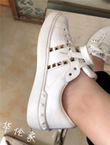 Low top shoes Cattle hide (except cattle suede) Frenulum Round head Outdoor leisure shoes top layer leather rivet Spring 2021