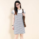 Dress Summer 2021 Blue and white, red and white S, M Other / other More than 95% cotton