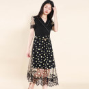 Dress Summer 2021 Black, black, no belt M,L,XL,2XL,3XL Other / other SD20L2106 31% (inclusive) - 50% (inclusive) nylon