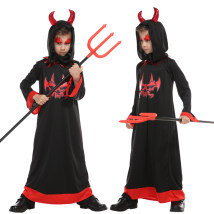 Clothes & Accessories Happy party M suggested height 110-120cml suggested height 120-130cmxl suggested height 130-140cm red fork Halloween Angel Devil Children's devil costume for Halloween nothing
