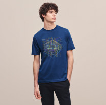 T-shirt Youth fashion White, gray, black, army green, treasure blue, navy routine M,L,XL,2XL Hermes products Short sleeve Crew neck standard daily summer youth routine Youthful vigor Cotton wool 2021 Solid color Color contrast cotton Geometric pattern tie-dyed Non brand