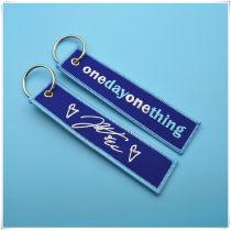 Key buckle Keychain blue Plastic Photo type Retro style One Zero point eight