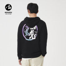 Sweater Youth fashion Postscript 165/S 170/M 175/L 180/XL 185/XXL Animal design Socket routine Hood autumn leisure time teenagers tide Off shoulder sleeve Terry cloth Cotton 73% polyester 27% cotton printing other Autumn of 2019 70% (inclusive) - 79% (inclusive) Chinese style