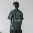 T-shirt Youth fashion White, gray, blue routine M,L,XL,2XL Others Short sleeve Crew neck easy Other leisure summer J-210227-T1053 youth routine tide 2021 character printing cotton other No iron treatment