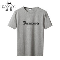 T-shirt Business gentleman White red gray black thin M L XL XXL 3XL 4XL Fordoo / hudu Short sleeve Crew neck Self cultivation daily summer VT6CH19630231 Cotton 100% middle age routine Business Casual Cotton wool Summer of 2019 Alphanumeric printing cotton Brand logo other Domestic famous brands
