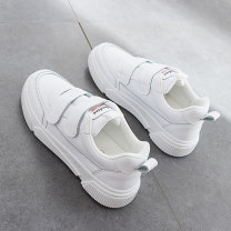 Low top shoes 35, 36, 37, 38, 39, 40, this shoe is half size smaller. It is suggested to increase one size to shoot Other / other White - 8533, blue - 8533, pink - 8533 Round head PU Flat bottom Low heel (1-3cm) Deep mouth PU Spring 2016 Velcro leisure time Adhesive shoes Solid color rubber cloth