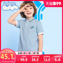 T-shirt 0e54 grey 024r Oriental red 013y bright yellow baleno junior 110cm 120cm 130cm 140cm 150cm male summer Short sleeve Lapel and pointed collar leisure time There are models in the real shooting nothing other Solid color Cotton 83% polyester 14% PVC 3% 8721102B437 Class B other Spring 2021