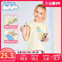 T-shirt 027b color blue 001w bleaching 038y transparent yellow baleno junior 110cm 120cm 130cm 140cm 150cm female summer Short sleeve Crew neck princess There are models in the real shooting nothing cotton rainbow Cotton 100% 8721201G388 Class B Sweat absorption Spring 2021 Chinese Mainland