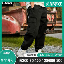 Casual pants N-MAX Youth fashion XL 2XL 3XL 4XL 5XL 6XL routine trousers Other leisure easy No bullet spring Large size tide middle-waisted Little feet Cotton 100% Sports pants Solid color other cotton Spring 2020 Pure e-commerce (online only) More than 95%