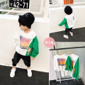 Parent child fashion White and green Mother and son male Other / other Mom size M (suitable for about 160 ~ 165 cm) tag 100 tag 110 tag 120 tag 130 tag 140 tag 150 SYY079 spring and autumn Versatile routine other Cotton blended fabric L M Syy079 left right color contrast printing cactus sweater