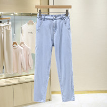 Jeans Summer 2021 blue S,M,L,XL trousers High waist routine 25-29 years old washing light colour 1E2229 96% and above
