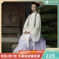 National costume / stage costume Autumn of 2019 White blue collar straight collar cardigan spot white pink collar straight collar cardigan spot navy blue horse face skirt spot light purple horse face skirt spot 155 160 165 170 HFAY2350 Return to the Han and Tang Dynasties 18-25 years old Other 100%