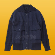 T-shirt / sweater Others Fashion City blue M. L, XL, top 20 199 yuan! routine Cardigan Lapel Long sleeves winter easy leisure time tide youth raglan sleeve Solid color washing Regular wool (10 stitches, 12 stitches) wool blend  jacquard weave 70% (including) - 95% (excluding)