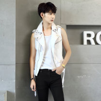 leather clothing Others Fashion City White, black, red M,2XL,XL,L routine Imitation leather clothes A127-JK13-p100