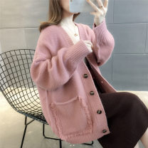 Wool knitwear Winter 2020 S,M,L,XL,2XL,3XL Long sleeves singleton  Cardigan other 81% (inclusive) - 90% (inclusive) have cash less than that is registered in the accounts thickening Sweet easy V-neck routine Solid color