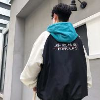 Windbreaker Youth fashion Others M L XL 2XL routine easy Front and middle zip placket Other leisure Four seasons teenagers Hood (not detachable) tide