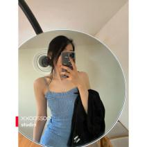 Dress Summer 2020 Ice blue S, M singleton  commute camisole 20DD001 31% (inclusive) - 50% (inclusive) cotton