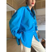 shirt Dark sky blue S, M Spring 2020 cotton 31% (inclusive) - 50% (inclusive) 25-29 years old xxoossoo 19CS018