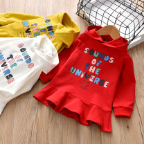 Dress female Other / other 90cm,100cm,110cm,120cm,130cm Cotton 90% other 10% spring and autumn Korean version Long sleeves Cartoon animation Cotton blended fabric A-line skirt Class B 12 months, 18 months, 2 years old, 3 years old, 4 years old, 5 years old, 6 years old, 7 years old Chinese Mainland