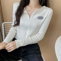 Wool knitwear Spring 2021 Average size Gray, white, blue, black Long sleeves singleton  Cardigan other 31% (inclusive) - 50% (inclusive) have cash less than that is registered in the accounts routine Self cultivation