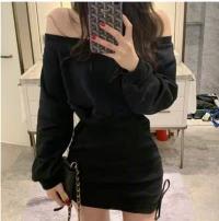 Dress Autumn 2020 black Average size Miniskirt singleton  commute 25-29 years old Korean version