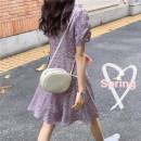 Dress Summer 2021 Picture color, random gift M,L,XL,2XL Short skirt singleton  Short sleeve commute V-neck middle-waisted Decor Socket 25-29 years old