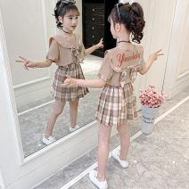 suit Other / other female summer Korean version Short sleeve + skirt 2 pieces Thin money There are models in the real shooting Condom nothing lattice Cotton and hemp elder Giving presents at school Class B Cotton 65% flax 35% Three, four, five, six, seven, eight, nine, ten, eleven, twelve