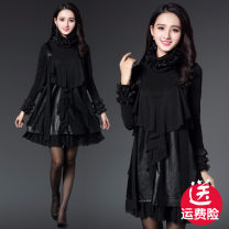 Dress Autumn 2020 Single vest, Vest + Plush cardigan M,L,XL,2XL,3XL Middle-skirt Two piece set Long sleeves Sweet stand collar middle-waisted Solid color Socket other Flying sleeve camisole Type A Jiarong 101 Mei 11 31% (inclusive) - 50% (inclusive) Chiffon PU princess