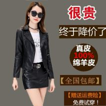 leather clothing Love of brother Hua Spring 2021 S,M,L,XL,2XL,3XL Black [thin one-piece coat], black [thin suit], black [cotton thickened one-piece coat], black [cotton suit] have cash less than that is registered in the accounts Long sleeves Self cultivation street tailored collar zipper routine