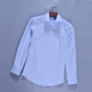 shirt Business gentleman Duobao deer 38,39,40,41,42,43,44 Light blue 268 routine Pointed collar (regular) Long sleeves standard go to work spring 268 twill Long Sleeve Shirt youth Polyester 55% cotton 45% Business Casual Solid color washing other