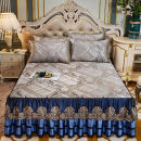Bed skirt 1.5x2.0m bed - three piece set, 1.8x2.0m bed - three piece set, 1.8x2.2m bed - three piece set, 2.0x2.2m bed - three piece set, 1.2x2.0m bed - customized - contact customer service cotton The article is full of details stripe Qualified products