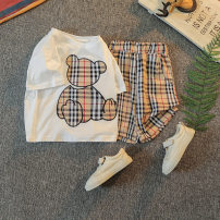 suit Other / other White, black neutral summer Korean version Short sleeve + pants 2 pieces routine No model Socket nothing Cartoon animation other children Expression of love 21X-TZ0011 Class B Other 100% Chinese Mainland
