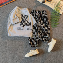 suit Other / other Gray, white, black, green, orange neutral summer Korean version Short sleeve + pants 2 pieces routine No model Socket nothing Cartoon animation other children Expression of love 21X-TZ001 Class B Other 100% Chinese Mainland