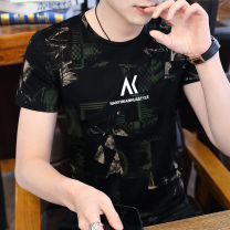 T-shirt Youth fashion 7719 black green, 7719 black, 7718 black red, 7718 Black Beige, 7710 white, 7710 black red, 7710 black, 7715 white, 7715 black red, 7715 Black Beige routine M,L,XL,2XL,3XL Others Short sleeve Crew neck Self cultivation Other leisure summer AD12131 Cotton 63.7% polyester 36.3%