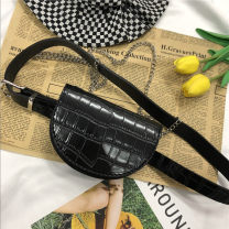 Bag Pocket PU other Other / other black brand new Japan and South Korea Mini leisure time soft Cover type Single root youth synthetic leather